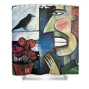 The Bird Watcher Shower Curtain