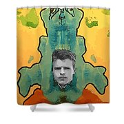 The Birth Of Rorschach The Inventor Of The Inkblot Test Shower Curtain