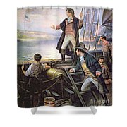 The Birth Of The Us National Anthem Shower Curtain
