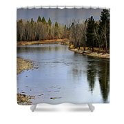 The Bitterroot River Montana Shower Curtain