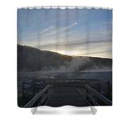 The Black Basin Shower Curtain
