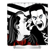 The Black Lodge Shower Curtain