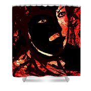 The Black Mask Shower Curtain