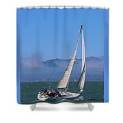 The Black Pearl Shower Curtain