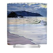 The Black Rock Widemouth Bay Shower Curtain