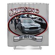 The Black Widow Butterfield Shower Curtain
