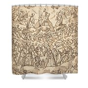 The Blessed In Paradise With The Virgin And St. John The Baptist Before God Shower Curtain