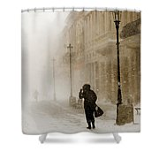 The Blizzard II Shower Curtain