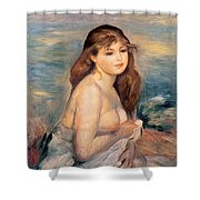 The Blonde Bather Shower Curtain