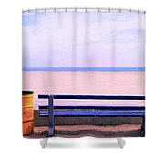 The Blue Bench Shower Curtain