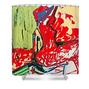 The Blue Chair Shower Curtain