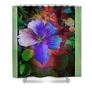 The Blue China Rose  Shower Curtain