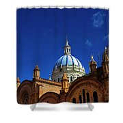 The Blue Domes Of Cuenca, Ecuador Shower Curtain