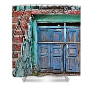 The Blue Door - India Shower Curtain