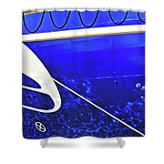 The Blue Ferry Shower Curtain