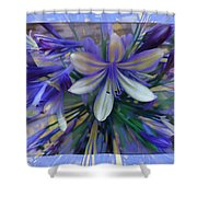 The Blue Flowers Of Melanie  Shower Curtain