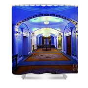 The Blue Hallway Shower Curtain