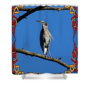 The Blue Heron Claimed He Was Framed Shower Curtain