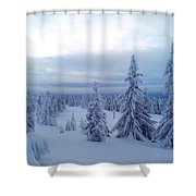 The Blue Hour Shower Curtain
