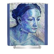 The Blue Jewel Shower Curtain
