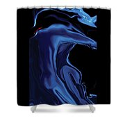 The Blue Kiss Shower Curtain
