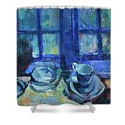 The Blue Kitchen Shower Curtain