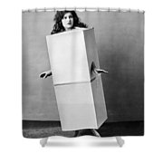 The Blue Law Girl Shower Curtain
