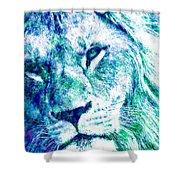 The Blue Lion Shower Curtain