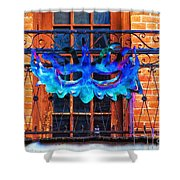The Blue Mask Shower Curtain