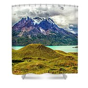 The Blue Massif Shower Curtain