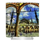 The Blue Mosque Istanbul Art Shower Curtain
