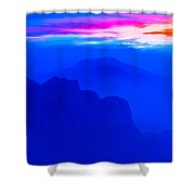 The Blue Mountain Shower Curtain