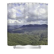 The Blue Mountains Shower Curtain