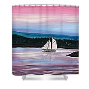 The Blue Nose II At Baddeck Nova Scotia Shower Curtain