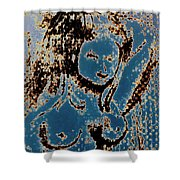 The Blue Nude Shower Curtain