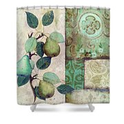 The Blue Pear Shower Curtain
