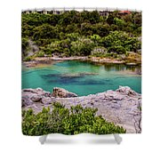 The Blue Pool Shower Curtain