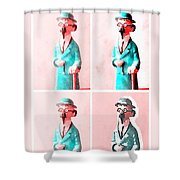 The Blue Professor Shower Curtain