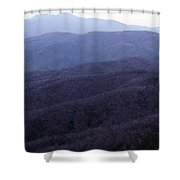 The Blue Ridge Shower Curtain
