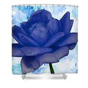 The Blue Rose Shower Curtain
