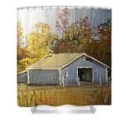 The Blue Shed Shower Curtain
