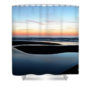 The Blue Zone California Shower Curtain
