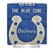 The Blue Zone Shower Curtain