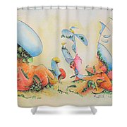 The Blues Shower Curtain