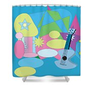 The Blues Shower Curtain by Eleni Mac Synodinos