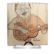 The Blues Man  Shower Curtain