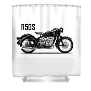 The R50s Motorcycle Shower Curtain