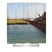 The Boardwalk Leap Shower Curtain
