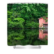 The Boat House At Desoto Falls Shower Curtain
