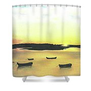 The Boat Launch Shower Curtain